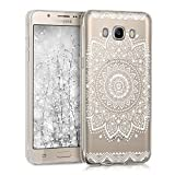 kwmobile Samsung Galaxy J5 (2016) DUOS Hülle - Handyhülle für Samsung Galaxy J5 (2016) DUOS - Handy Case in Weiß Transparent