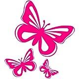 Vinilo adhesivo para coche, ventana, furgoneta, diseño de mariposa, color rosa