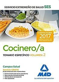 Cocinero/a del Servicio Extremeño de Salud . Temario Específico volumen 2 par EDITORES 7