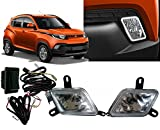 #6: Auto Pearl - Premium Quality Car Fog Lamp Lights with Wiring kit and Switch For - Mahindra KUV 100 (Without Plastic Sash Cover)