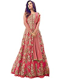 AnK Anarkali Kurtis for Women, Heavy Embroidered Semi-Stitched Long -