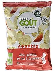 Good Goût Bio Mini Galettes de Riz à la Pomme dès 10 Mois 40 g