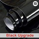 Papel pintado Autoadhesivo Perla Negro Papel de contacto Durable Vinilo Película PVC Pegatinas de cocina Baño Estante impermeable Muebles Contador Mesa de pared Peel Stick 30cm * 3m