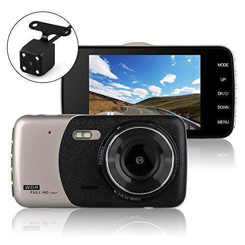 """UGI 4""""Bildschirm 720P Auto Video Recorder 170 Grad Weitwinkel Dashboard Kamera, Auto DVR Fahrzeug Dash Cam mit G-Sensor, WDR, Loop-Aufnahme"""