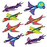 THE TWIDDLERS 48 Avions Planeurs Dinosaure Assembler | Cadeau Aux Invités, Anniversaire Pochettes | Surprise Et Piñatas Enfant, Récompenses à L'école, Jouet Styrol Avions | Halloween Fete