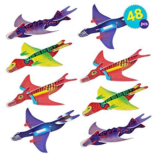 THE TWIDDLERS 48 Aviones planeadores de Dinosaurios - 4 diseños Distintos Detalles...