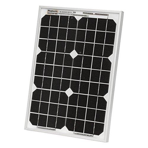 Photonic Universe 10 W Solarmodul, für Wohnmobile, Wohnwagen, Boote oder andere 12 V-grid off system