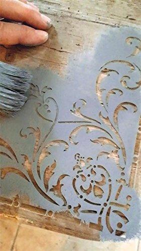 Jeanne d'Arc Living Vintage Stencil Corner Flower 700209Shabby Chic Schablone Wiederverwendbar
