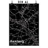 Mr. & Mrs. Panda Poster DIN A1 Stadt Bamberg Stadt Black -