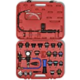 Anself Radiator Pressure Tester with Vacuum Purge and Refill Kit 27 Pcs