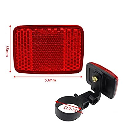 Fahrradbeleuchtung ,OHQ Fahrrad Fahrrad Vorne Hinten Warnung Lenkerhalterung Sicher Reflektor