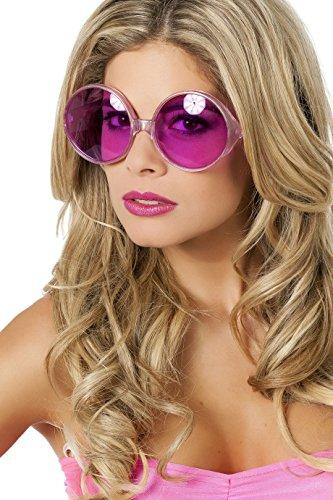 Panelize 70er 80er Brille große runde Gläser Hippie Spassbrille Schlagerparty 4 Farben - Große Runde Brille Kostüm
