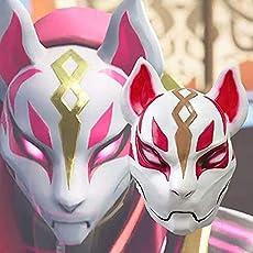 Miminuo Fortnite Fox Maske 3D Gedruckter Cosplay Latex Helm für Halloween
