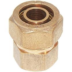 MagiDeal Acoplamiento de Tornillo Conector Hembra de Aluminio Roscado de Latón 1/4 '' 1/2 '' 3/4 '' Herramientas - s20 1/2 ''
