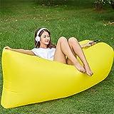Yeying123 Aufblasbares Sofa-Im Freien Tragbare Luft-Sofa-Taschen-Aufblasbare Blatt-Freizeit-Schnelles Aufblasbares Bett-Liege-Strand-Sofa,4