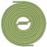 LACCICO Finest Waxed Laces® Durchmesser 2 mm Runde Dünne Elegante Gewachste Schnürsenkel Länge: 150 cm Farbe: Hellgrün