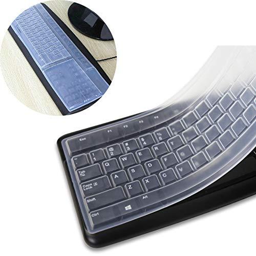 Alivier 1 stück Silikon Desktop Computer Tastatur Abdeckung Hautschutzfolie (- Tastatur-abdeckung)