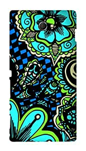 SWAG my CASE PRINTED BACK COVER FOR SONY XPERIA M2 Multicolor