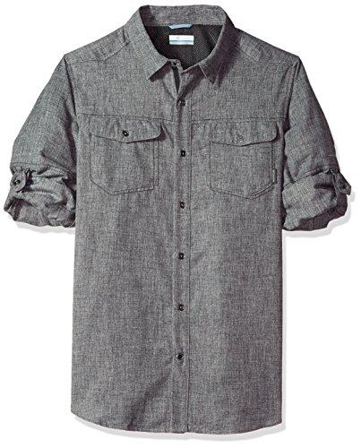 Columbia Herren Pilsner Lodge Long Sleeve Shirt, Shark Heather, XXL (Feuchtigkeit Wicking T-shirts Für Männer)