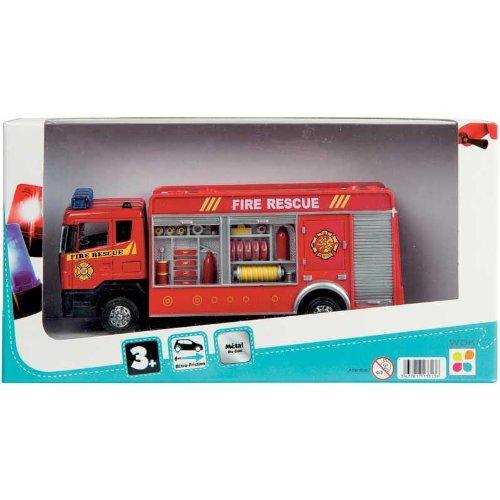 WDK PARTNER - A1300057 - Véhicules miniatures - Camion de pompier en métal - Modèle aléatoire
