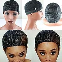 eseewigs Nero trecce capelli cap per facile cucire trama per chi ha subito da perdita di capelli intrecciato parrucca