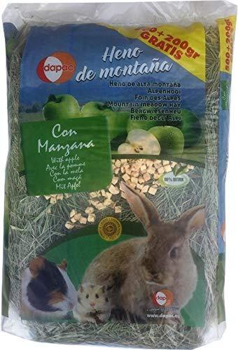 dapac 1 kg - Foin De Montagne Avec Pomme pour rongeurs