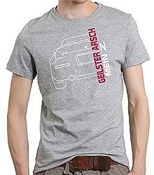 Unisex T-Shirt 350Z geilster Arsch Auto Driften Spruch Farbe Sports Grey, Größe 4XL