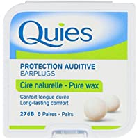 Quies Earplug Natural Wax, 8-Pairs