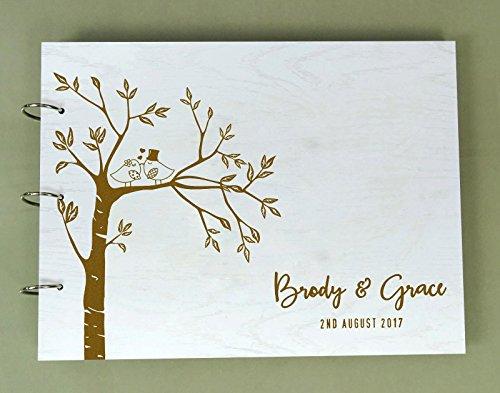 rnes Graviertes Braut U Bräutigam Ratbuch Personalisierte Hochzeits Foto Album Kundenspezifisches Einklebebuch (Sackleinen Foto Album)