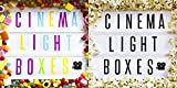 Cinematic A4 Lightbox Bundle with 90 black letters and 90 coloured letters. USB or battery operated (USB Cable Incl.) Retro wedding decoration, gift idea and vintage
