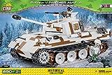 COBI 2511' Panzerkampfwagen V Panther AUSF A Konstruktionsspielzeug, Weiß/braun/schwarz