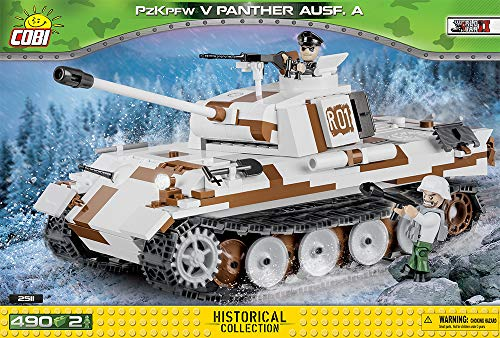 pfwagen V Panther AUSF A Konstruktionsspielzeug, Weiß/braun/schwarz ()