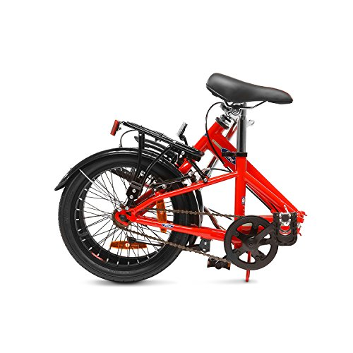 Ford B-Max, Unisex Folding Bike, Single Speed, 16 Inch Wheel, Gloss Red