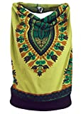 Guru-Shop, Goa Top, Dashiki Psytrance Psytrance Drizza Collo Top, Limone, Cotone, Dimensione Indumenti:S/M (34/36), Magliette top