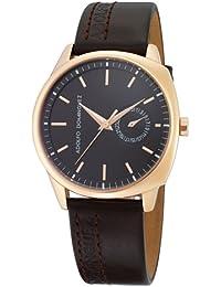 4565345f2cd5 Adolfo Dominguez Watches 64004 - Reloj de Caballero Cuarzo Correa Piel  Marrón
