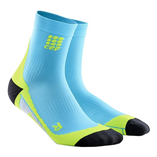 CEP Herren Kompressionsbekleidung Dynamic Short Socks, Hawaii Blue/Green, 4