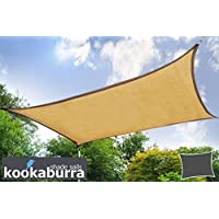 Tende a vela Kookaburra - Rettangolo 4.0mx3.0m Sabbia Intrecciata Traspirante
