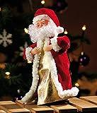 """infactory Weihnachtsartikel: Singender, tanzender Weihnachtsmann """"Swinging Santa"""", 28 cm (Tanzender Weihnachtsmann mit Musik) - 5"""