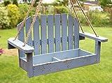 DanDiBo Blumenampel Schaukel 14B248-9 Blau Gartenschaukel 39 cm Vogelfutter Pflanzhänger