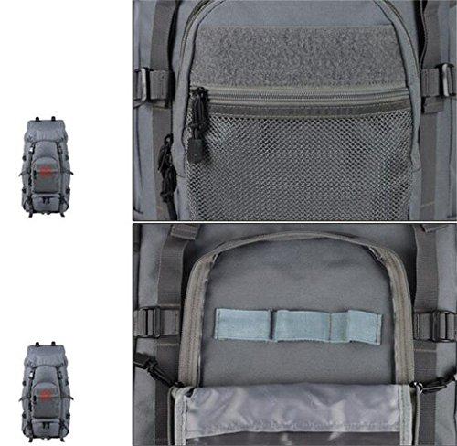 60 + 10L Bergtasche Männer und Frauen mit großer Kapazität Tasche Mud Color