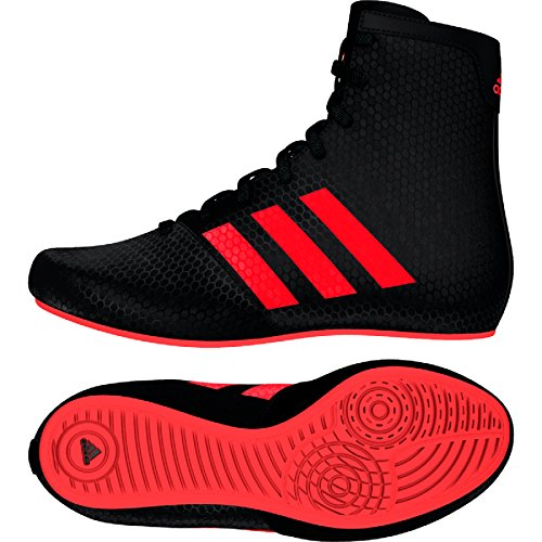 Adidas KO Legende Boxing Stiefel - Kids - schwarz rot schwarz