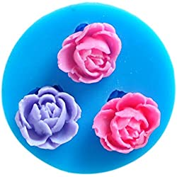 SaySure - Fine 3 flower hower party fondant molds,silicone mold soap