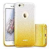 ESR Glitzer Hülle für iPhone 6 / 6S - Dünne Designer Hülle [Weiche TPU Abdeckung + Glitzer Papier + PP innere Schicht] - Stylische Schutzhülle kompatibel mit iPhone 6/6S 4,7 Zoll - Farbverlauf Gelb
