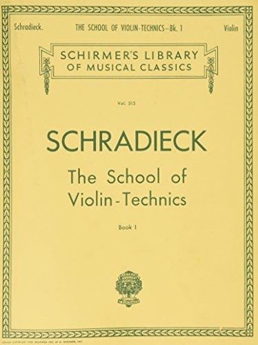Henry Schradieck School Of Violin Technics Book 1 (Dexterity) Vln