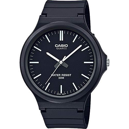 CASIO Unisex Erwachsene Analog Quarz Uhr mit Harz Armband MW-240-1EVEF (Robuste Uhr)