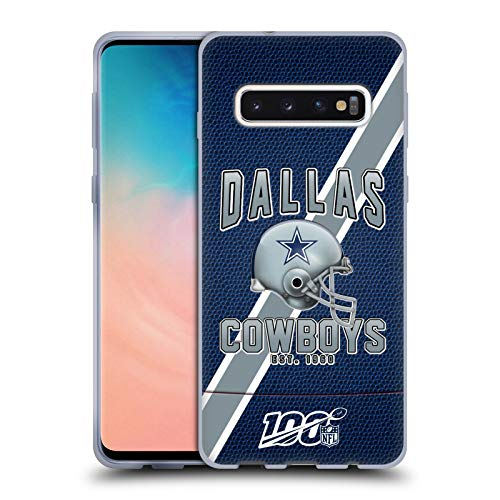Head Case Designs Offizielle NFL Football Streifen 100ste 2019/20 Dallas Cowboys Soft Gel Huelle kompatibel mit Samsung Galaxy S10