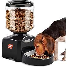 Comedero Automático, 5.5L Dispensador de Comida para Mascotas Perros Gatos, Alimentador Automático Programable