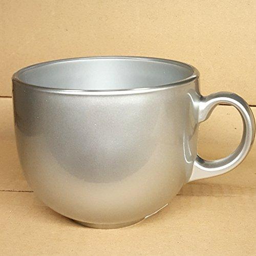 Tasse Bol petit déjeuner 50 cl en verre coloré Silver grise avec manche pour bar Cappuccino Lait Luminarc Jumbo 50 Flashy Breakfast