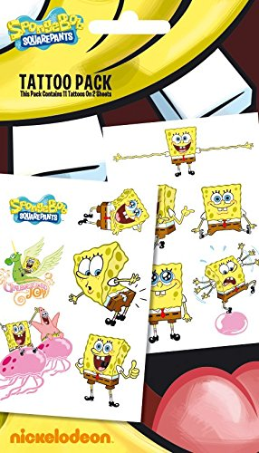 GB Eye Ltd, Bob Esponja, Bob Esponja Squarepants, Pack de Tatuajes