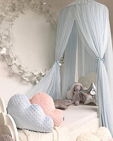 Here&There Betthimmel Bett Mantel Baby Bette Kinder Baldachin Vorhang Moskitonetz Prinzessin Kinderzimmer Babybetthimmel Garn Dekoration (blau)